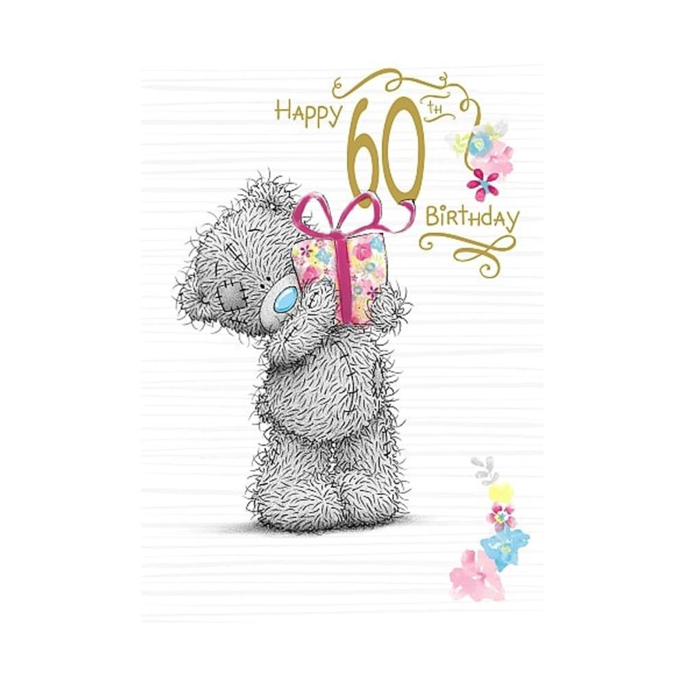 Happy 60th Birthday Me To You Bear Card 179