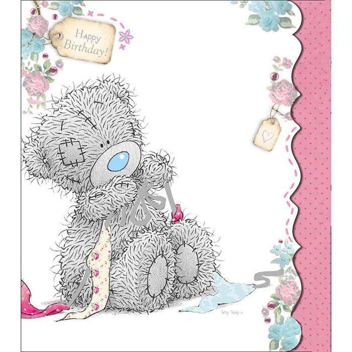 Tatty Teddy Making Bow Birthday Me to You Bear Card A01UD007 – Tatty Teddy Birthday Cards