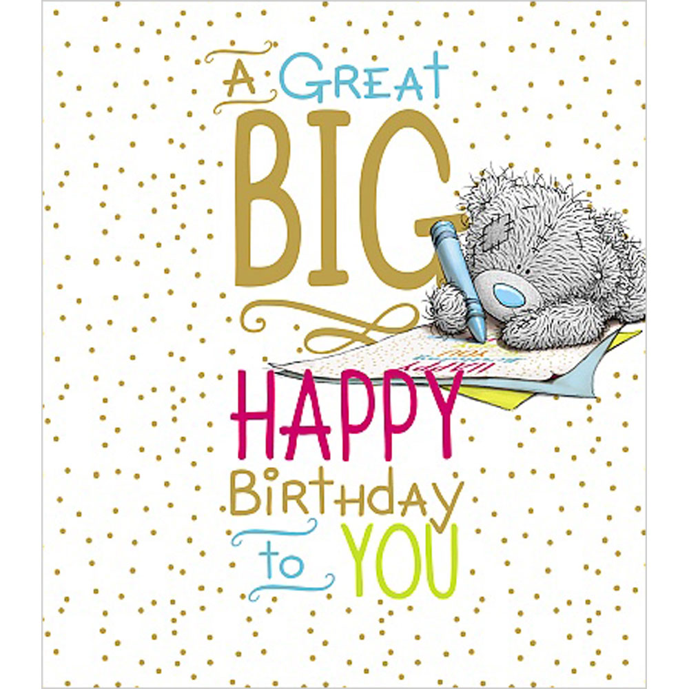 Big happy birthday me to you bear card a01un008 me to for Me to u pictures