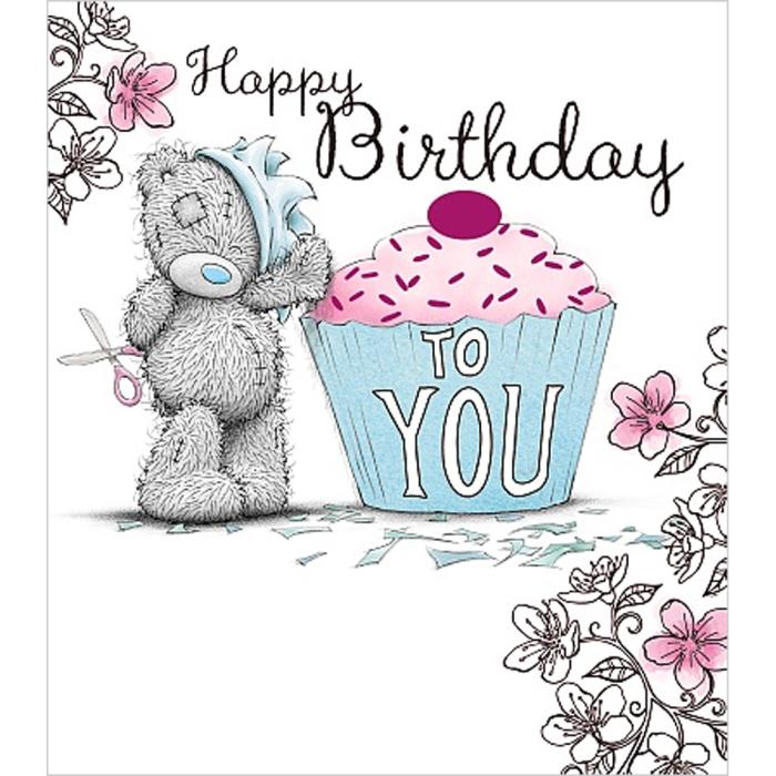 Happy Birthday To You Cupcake Me to You Bear Card A01US025 Me – Me to You Birthday Card