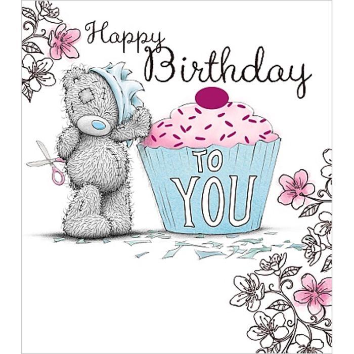 Happy Birthday To You Cupcake Me to You Bear Card A01US025 Me – Me to You Birthday Card