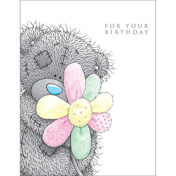 Tatty Teddy With Flower Me to You Bear Birthday Card A01XZ002 – Me to You Birthday Card