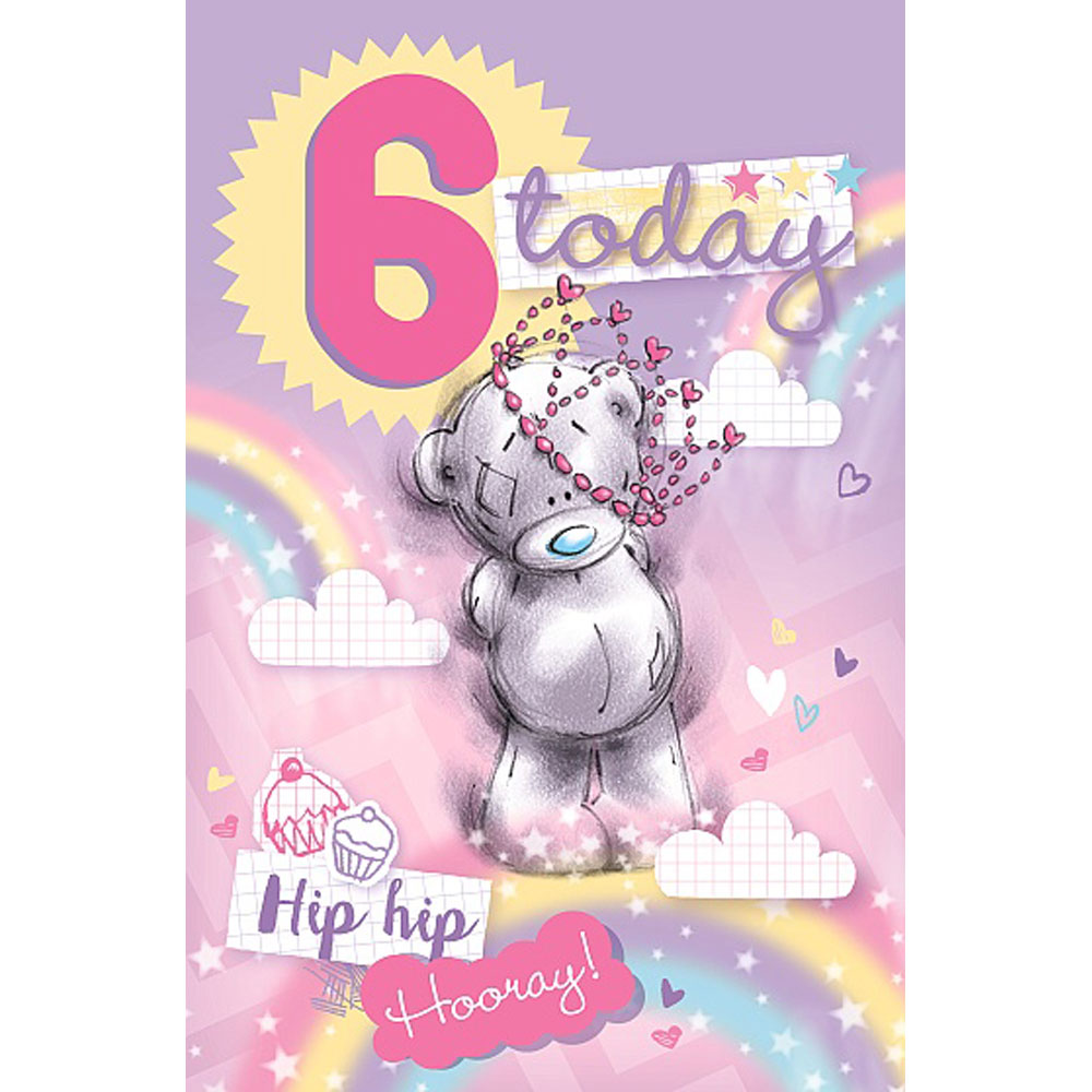 6 Today Me To You Bear 6th Birthday Card 179