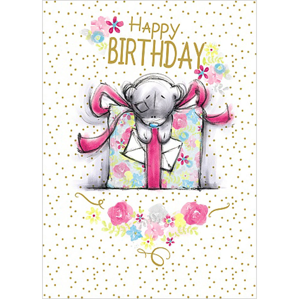 Happy Birthday Giant Gift Me To You Bear Card A91ss058