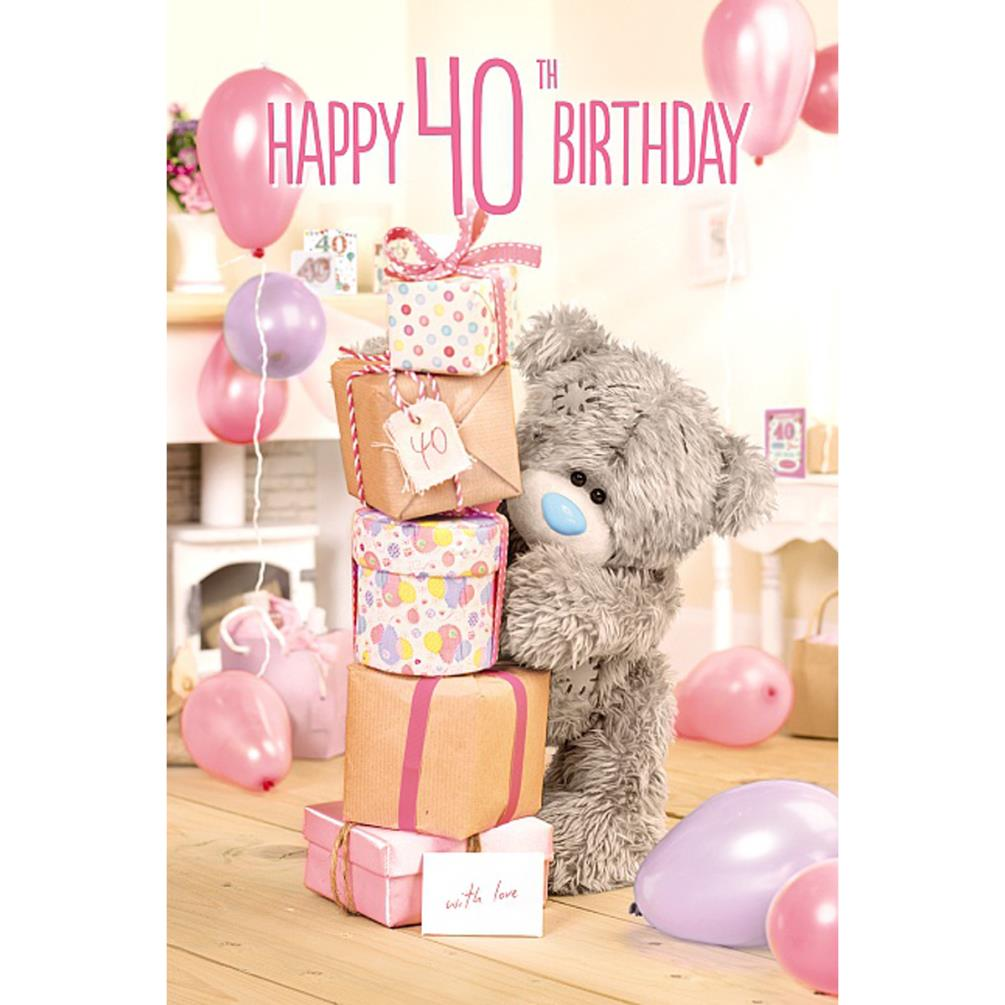 3D Holographic 40th Me To You Bear Birthday Card A93MZ063 Me To