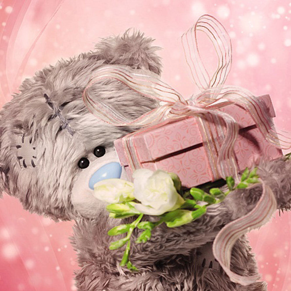 3D Holographic Tatty Teddy Holding Present Me to You Bear Birthday – Me to You Birthday Card