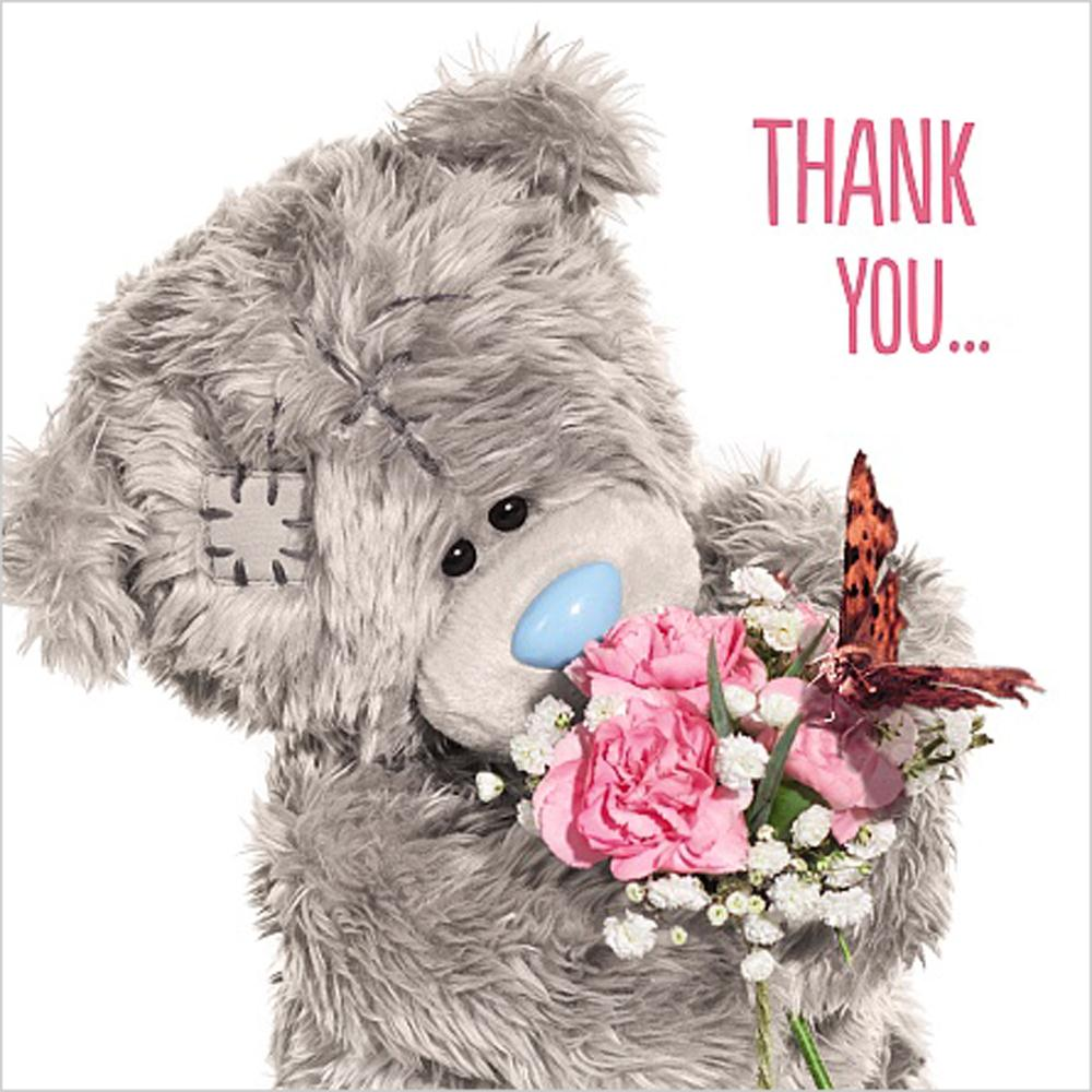 3D Holographic Thank You Me To You Bear Card A93VZ062 Me To You Bears Online Store