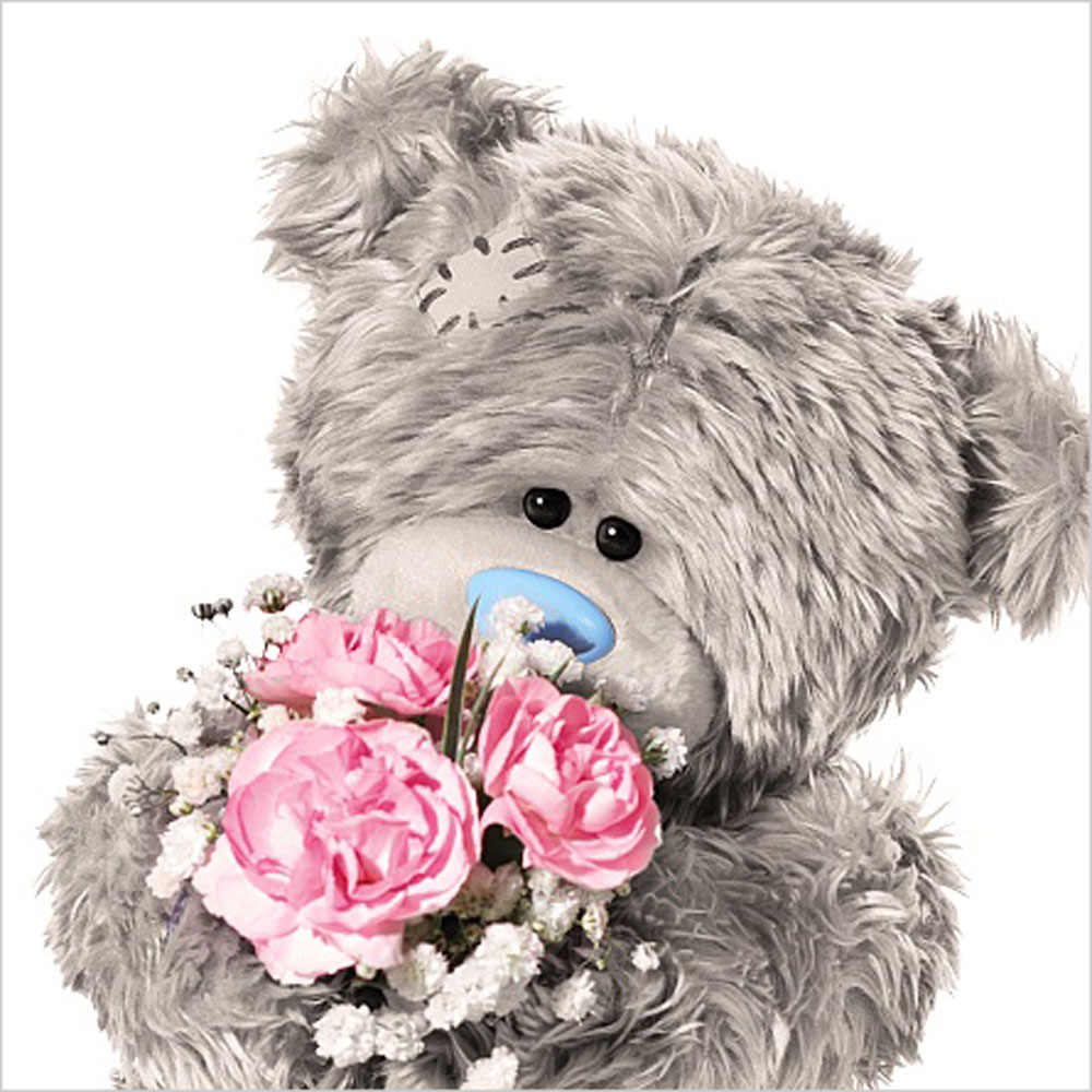3D Holographic With Flowers Me to You Bear Birthday Card A93VZ064 – Me to You Birthday Card