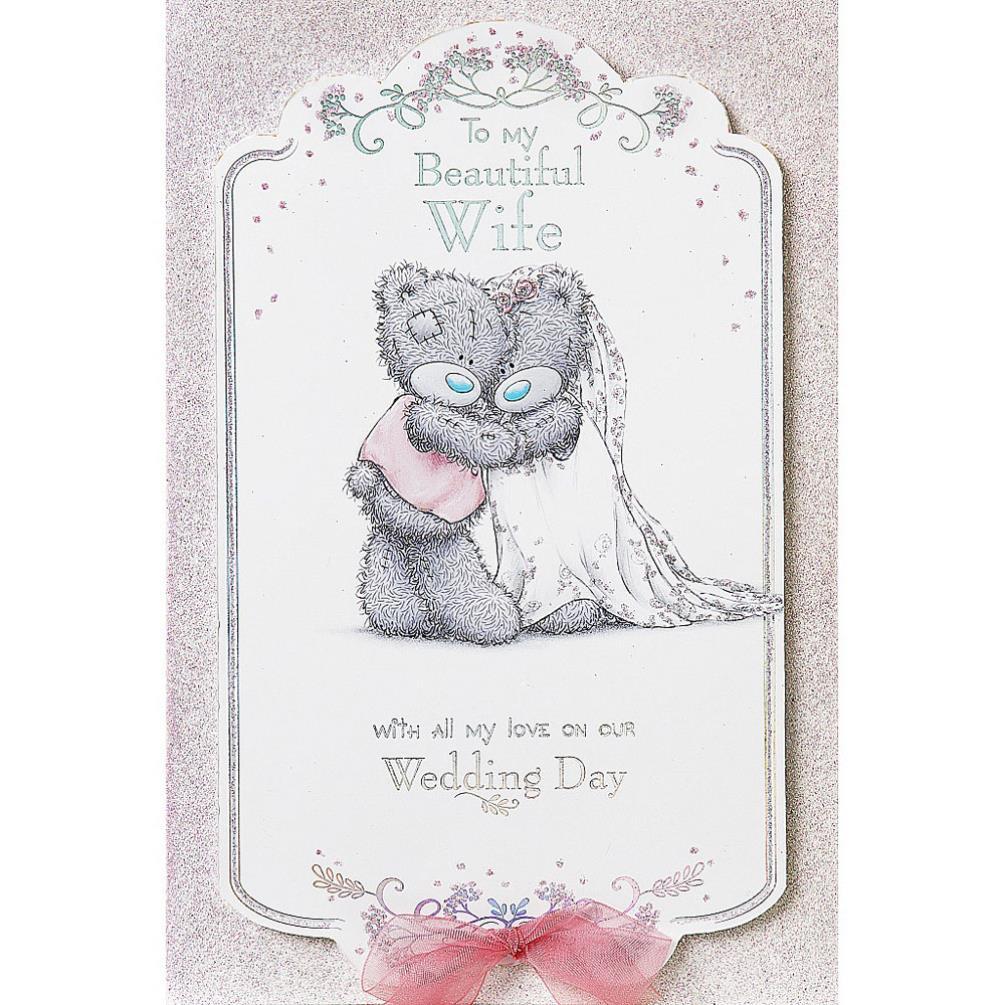 Wife Handmade Me To You Bear Wedding Day Card (AHM01008) : Me to You ...