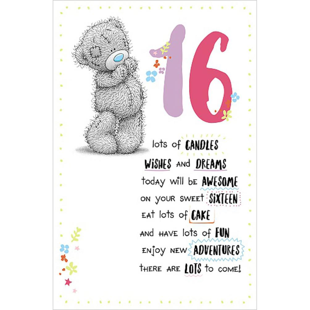 16th Birthday Me To You Bear Card 189