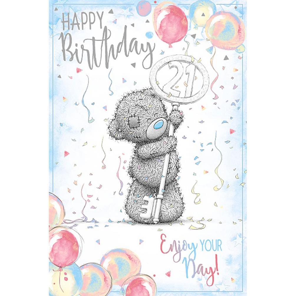 Happy 21st Birthday Me To You Bear Birthday Card (ASM01088