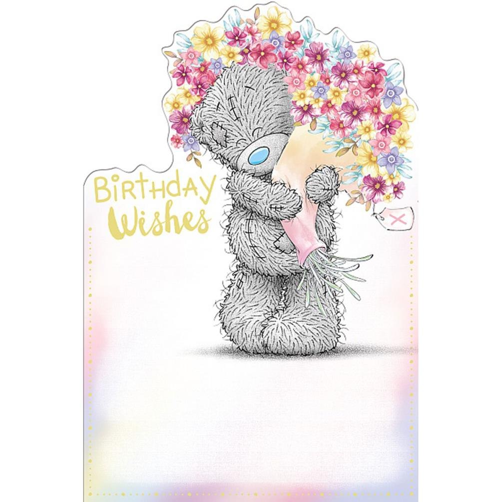 Birthday Wishes Bouquet Me To You Bear Card 249