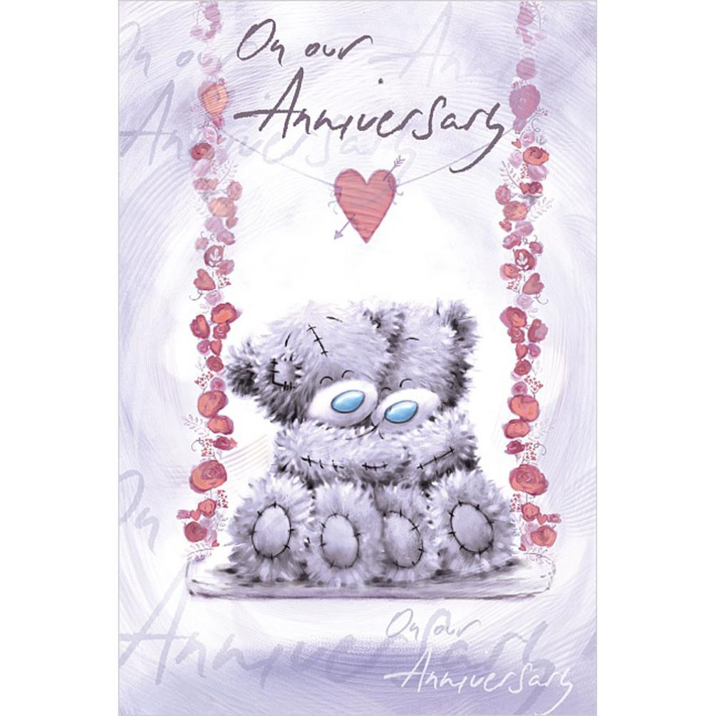 On Our Anniversary Me To You Bear Anniversary Card
