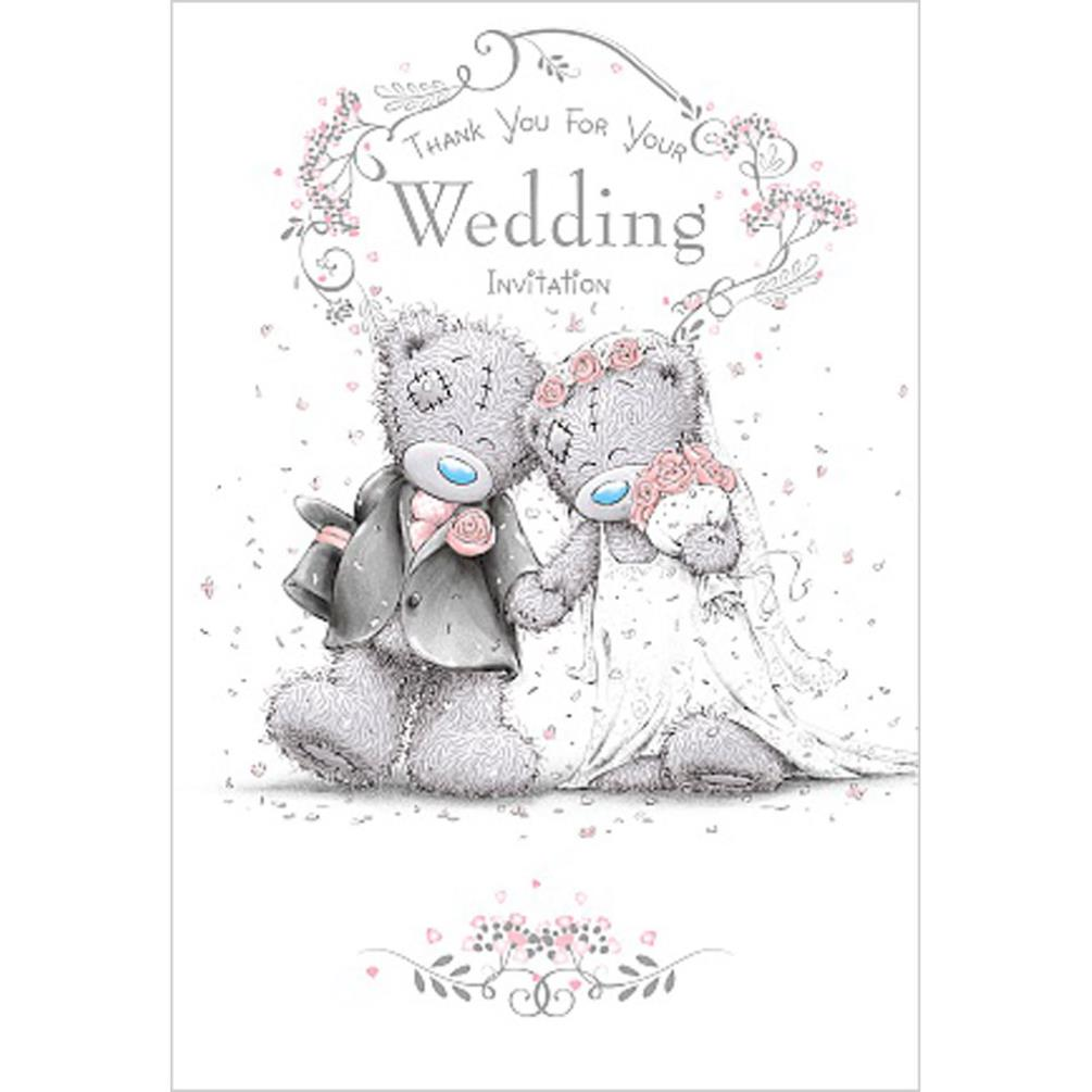 Thank You Wedding Invitation Me To You Bear Wedding Day Card ...
