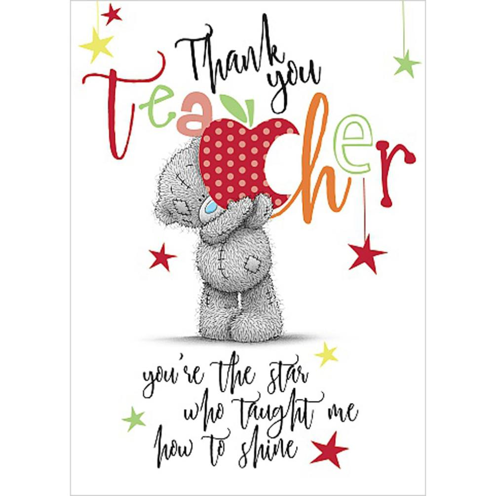 Thank You Teacher Me To You Bear Card Ass01074 Me To You Bears