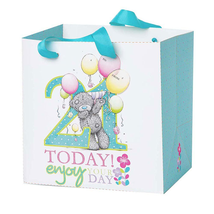 Medium 21st Birthday Me To You Bear Gift Bag GBP250