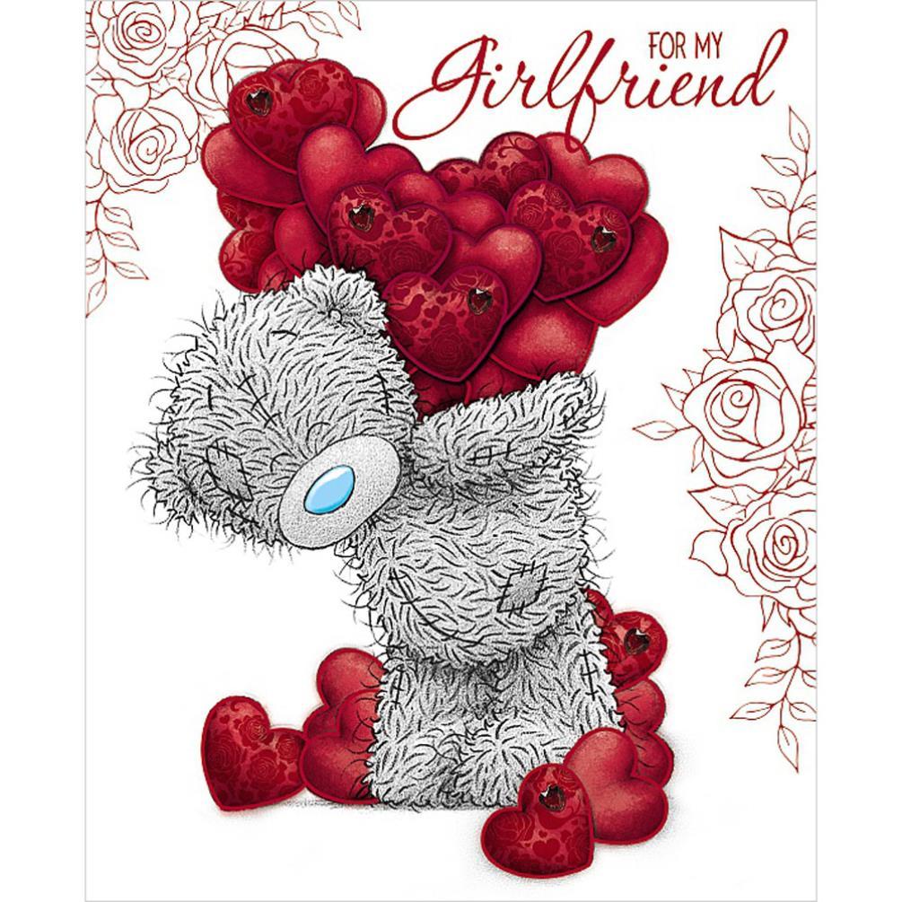 Girlfriend handmade me to you bear valentines day card v01dz064 girlfriend handmade me to you bear valentines day card 499 kristyandbryce Images