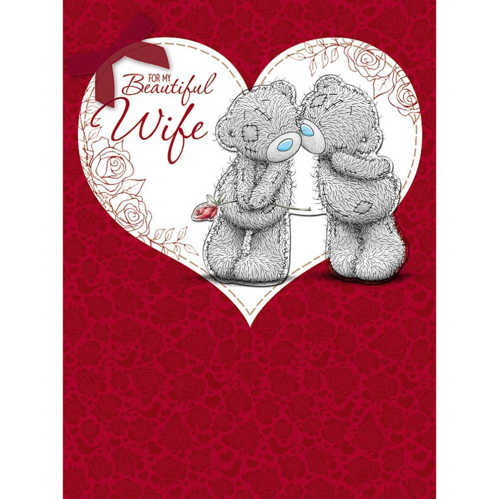 Beautiful Wife Large Me To You Bear Valentines Day Card V01lz108