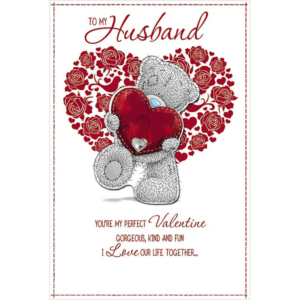 husband me to you bear handmade valentines day card