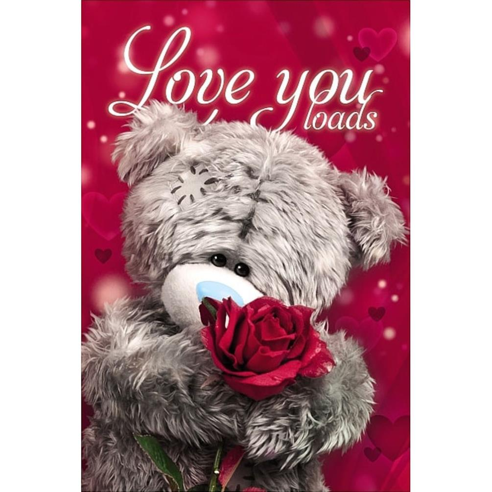3D Holographic Love You Loads Me to You Valentines Day Card