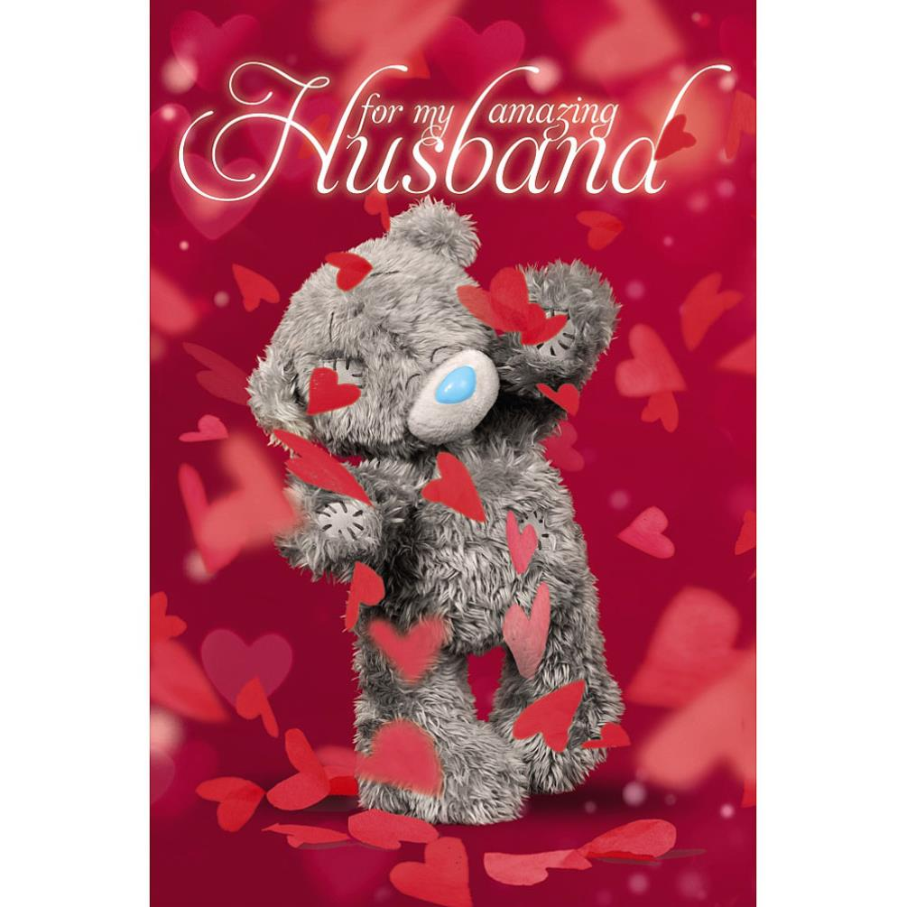 3d Holographic Husband Me To You Bear Valentines Day Card V93mz019
