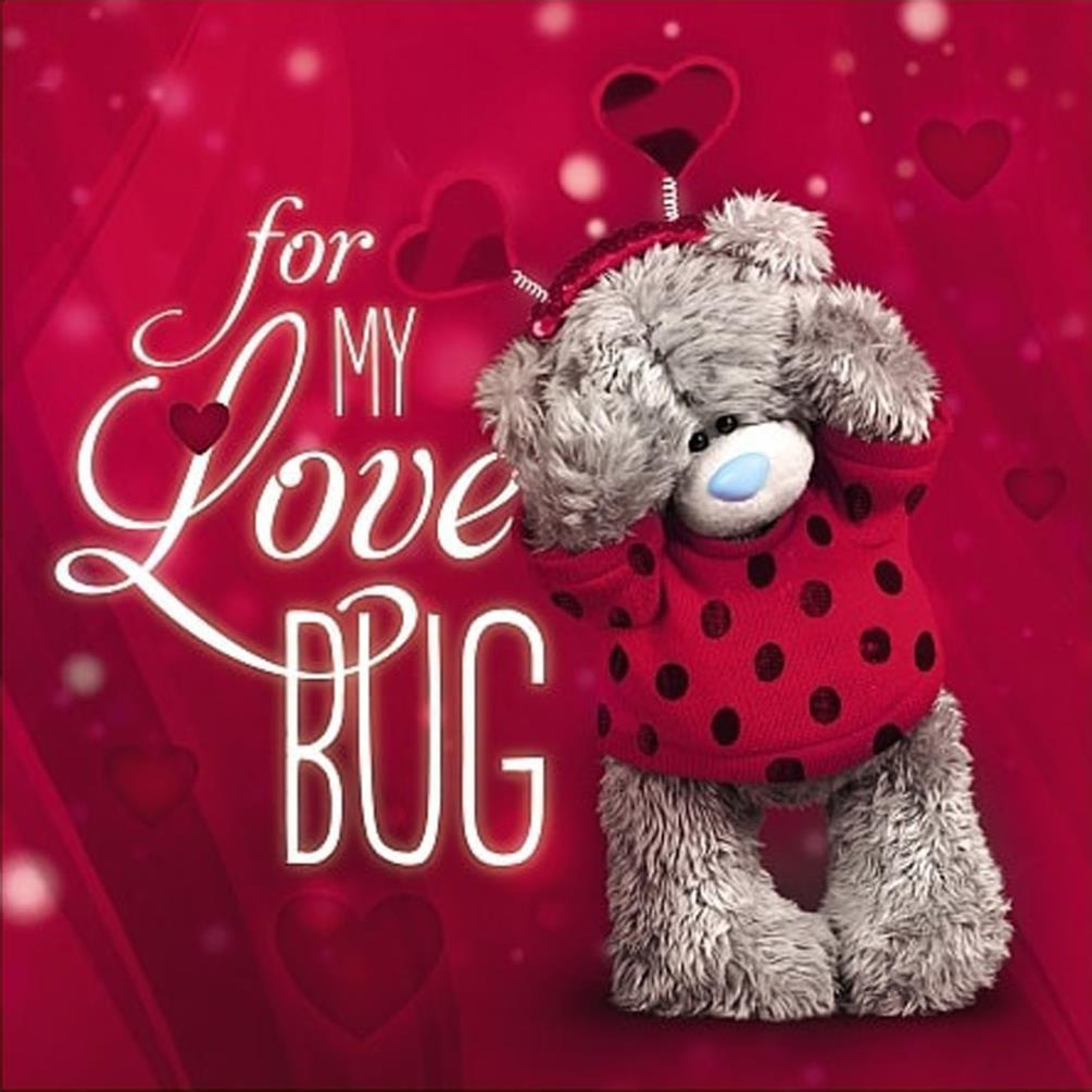 3d Holographic Love Bug Me To You Bear Valentines Day Card