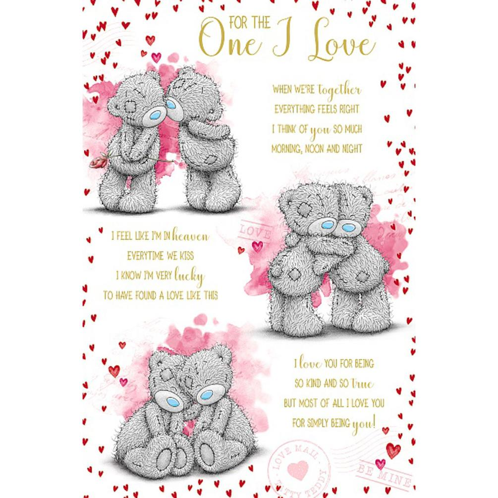 One I Love Poem Me To You Bear Valentines Day Card Vsm01021 Me To You Bears Online Store