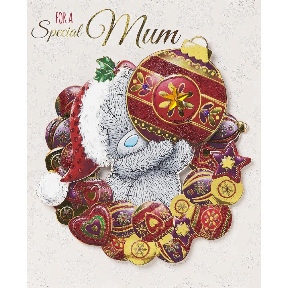 Special Mum Me To You Bear Handmade Christmas Card