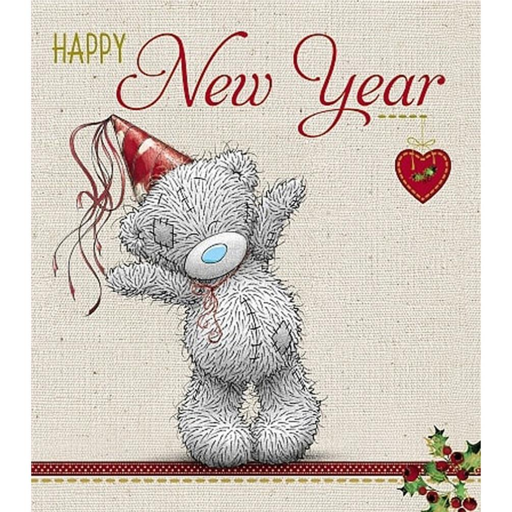 Happy New Year Me To You Bear Christmas Card X01US031