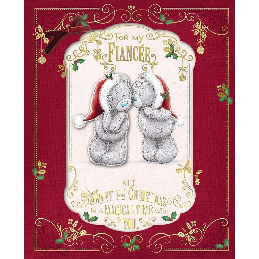 For My Fiancee Me To You Bear Handmade Boxed Christmas Card