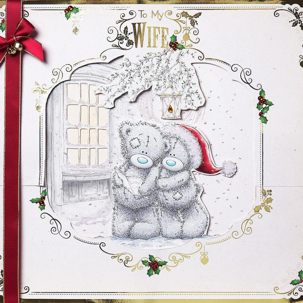 Wife Me To You Bear Luxury Giant Boxed Christmas Card