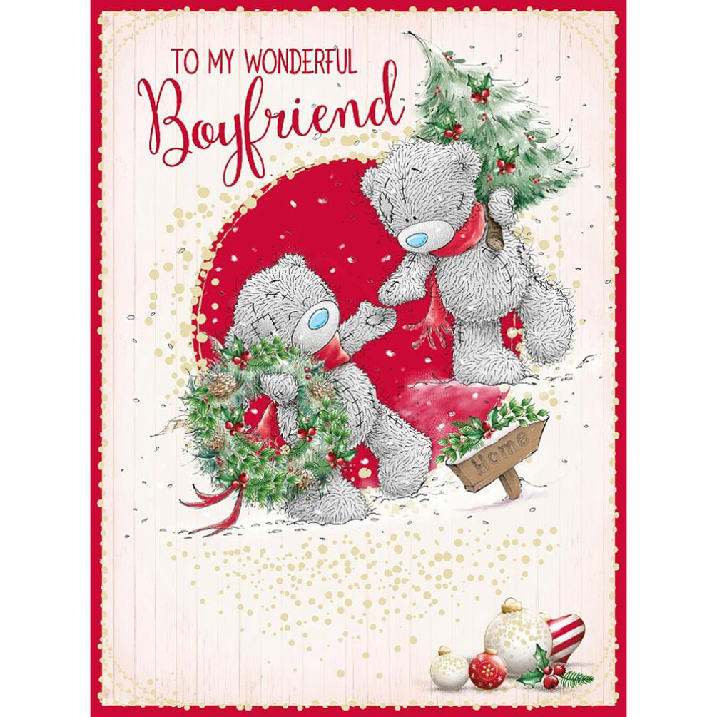 Wonderful Boyfriend Large Me To You Bear Christmas Card