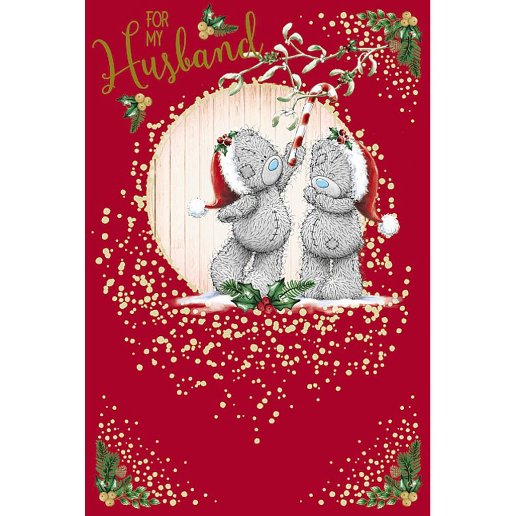 Husband Under Mistletoe Me To You Bear Christmas Card Xsm01014