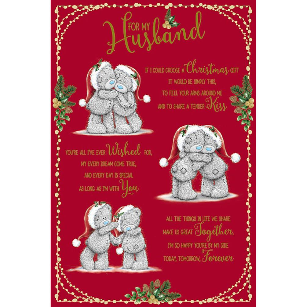 Husband Poem Me To You Bear Christmas Card Xsm01051 Me To You Bears Online Store