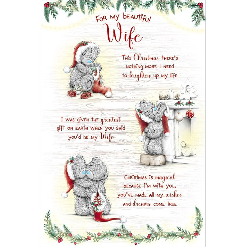 beautiful wife verse poem me to you bear christmas card