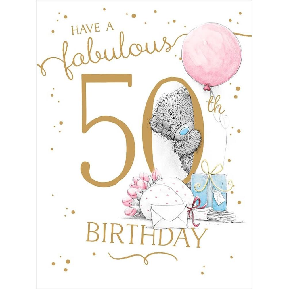 Me To You Bear 50th Birthday Cards Assorted