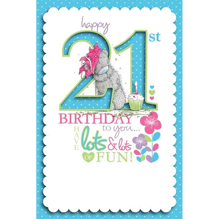 21st Birthday Me To You Bear Cards