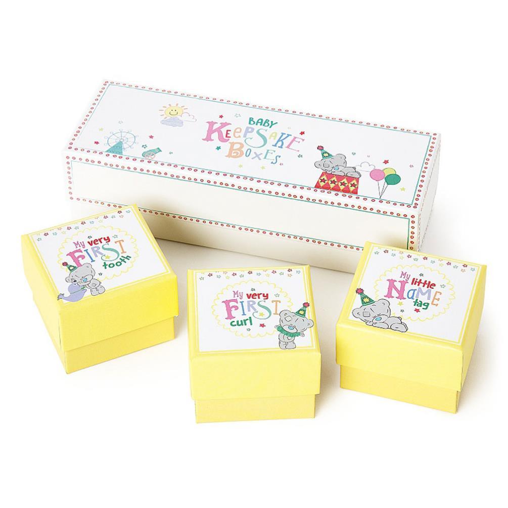 Tiny Tatty Teddy Set Of 3 Baby Keepsake Boxes Agb92002