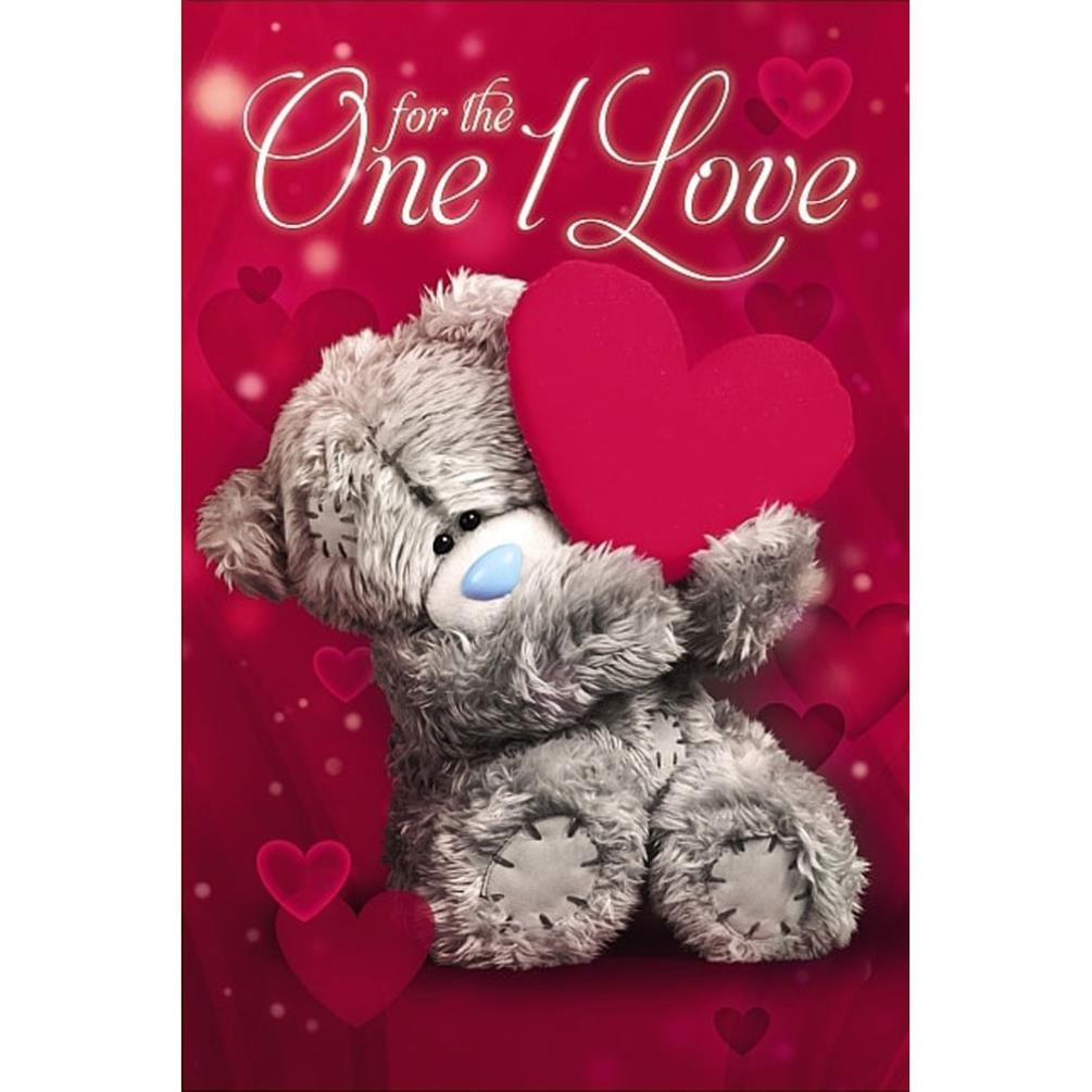 Valentines Me to You Bear 3D Holographic Cards – Teddy Bear Valentines Day Card