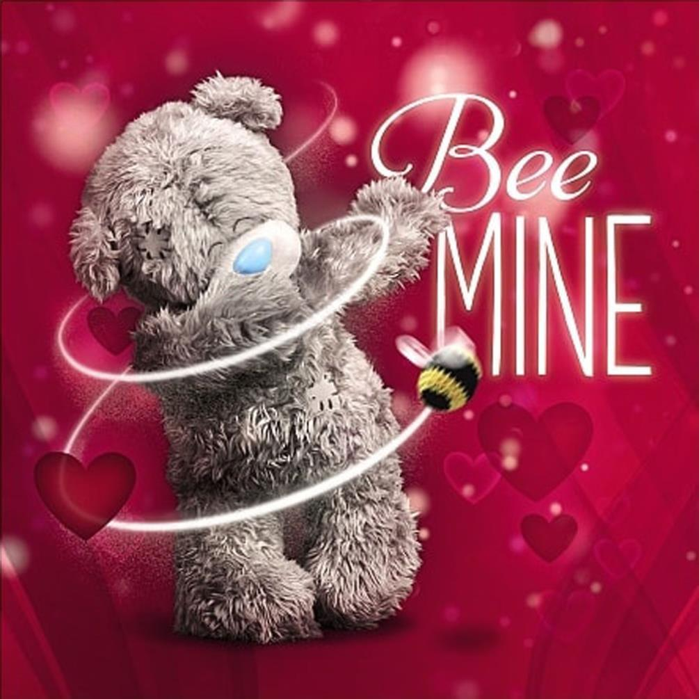 Love Quotes With Teddy Bear Images: Valentines Me To You Bear 3D Holographic Cards