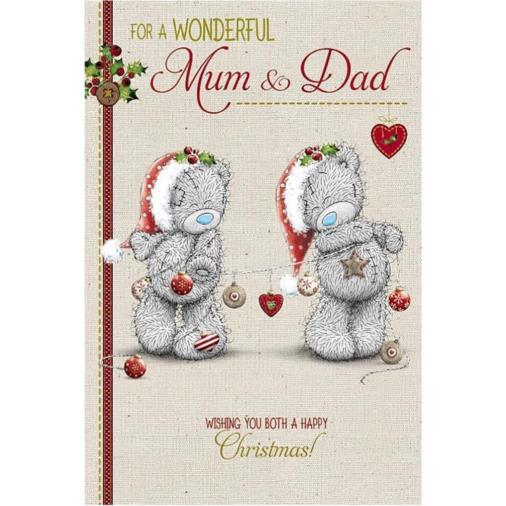 Me to You Bear Mum Mummy Dad Daddy Christmas Cards | eBay