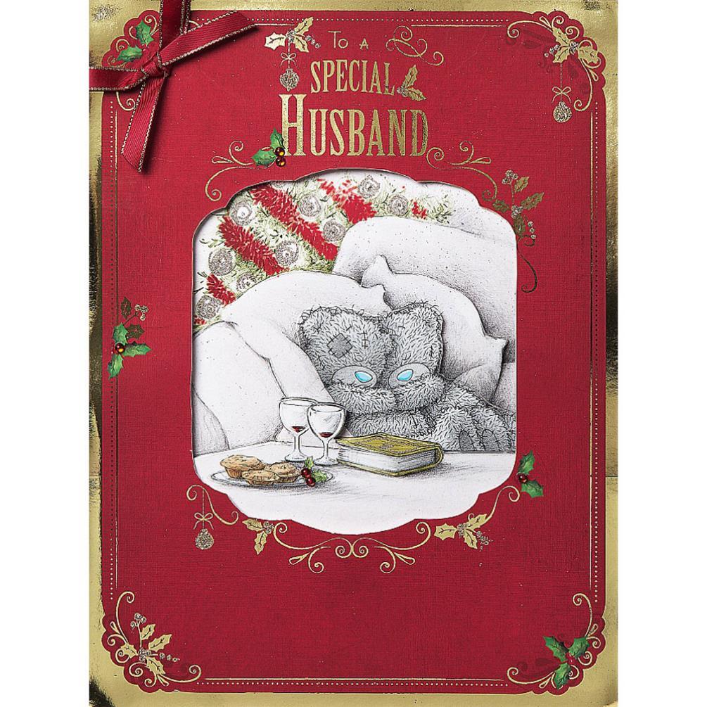 husband me to you bear luxury boxed christmas card
