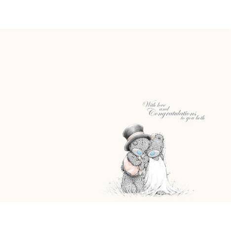 ME TO YOU GRANDSON AND NEW WIFE WEDDING DAY CARD TATTY TEDDY BEAR NEW GIFT