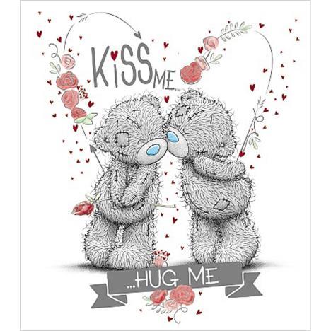 Kiss Me Hug Me To You Bear Valentines Day Card V01us015